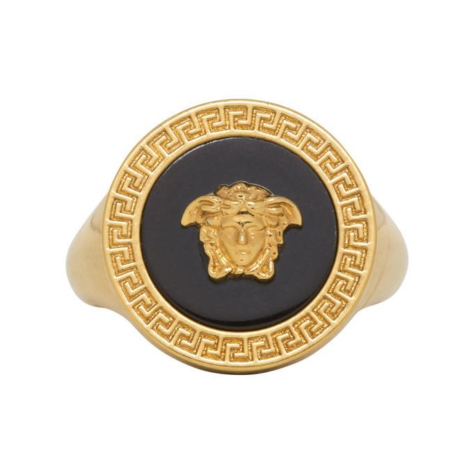 Photo: Versace Black Resin Medusa Ring