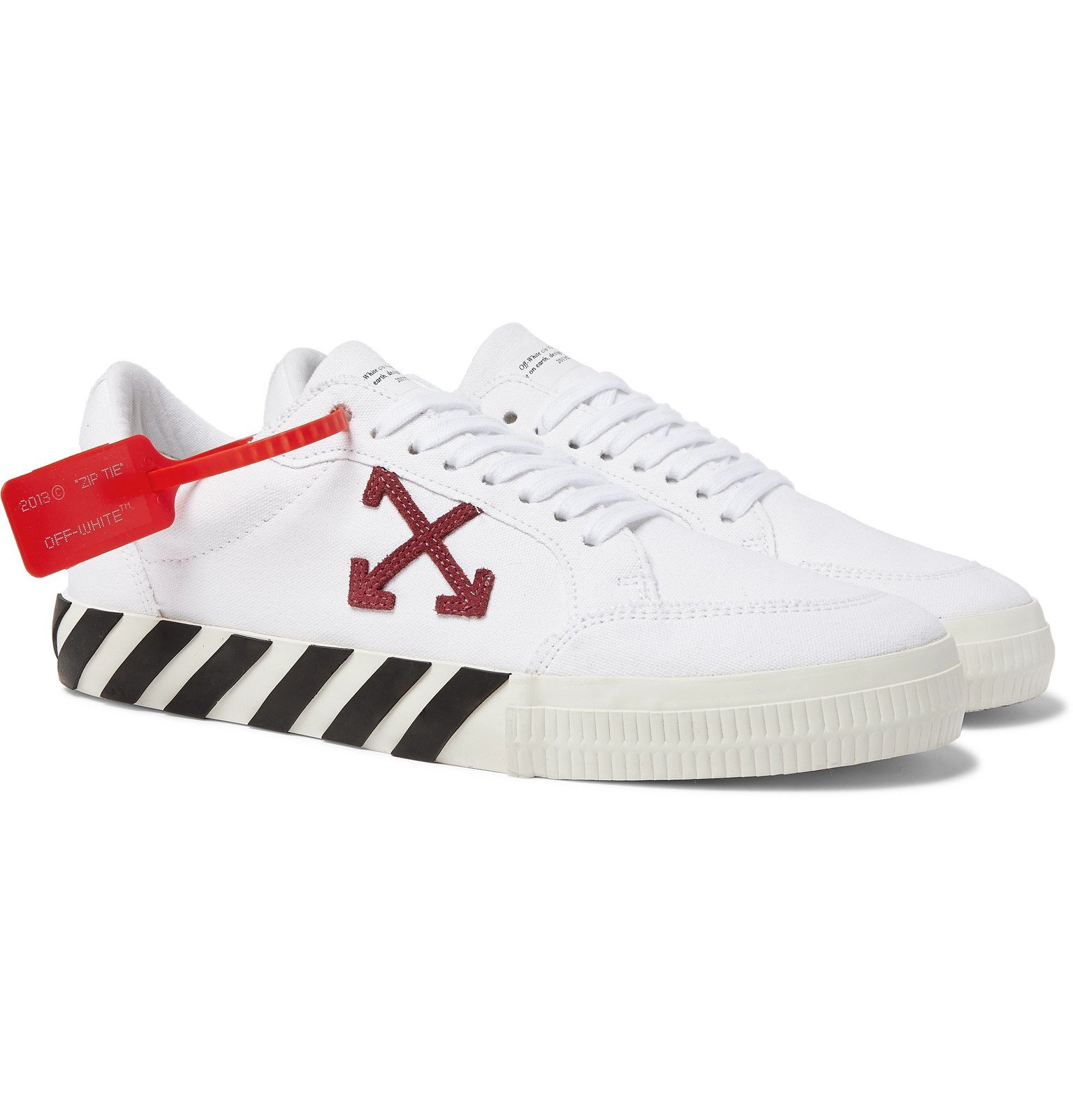 Suede-Trimmed Canvas Sneakers