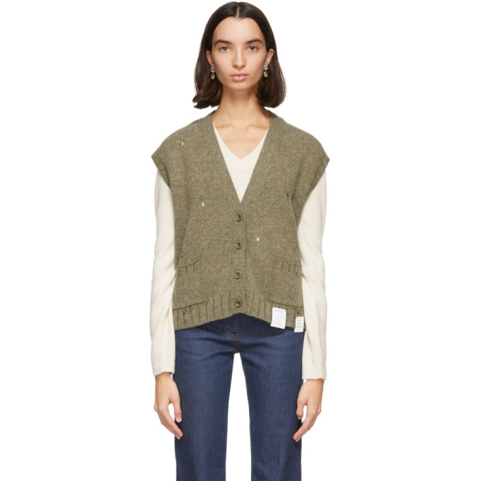 Photo: Gucci Green Wool Vest Cardigan