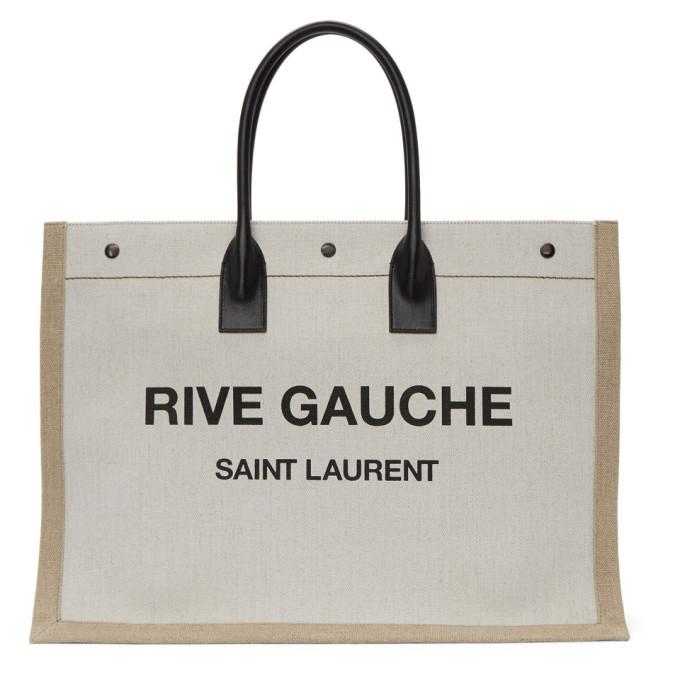 Photo: Saint Laurent Off-White Rive Gauche Tote