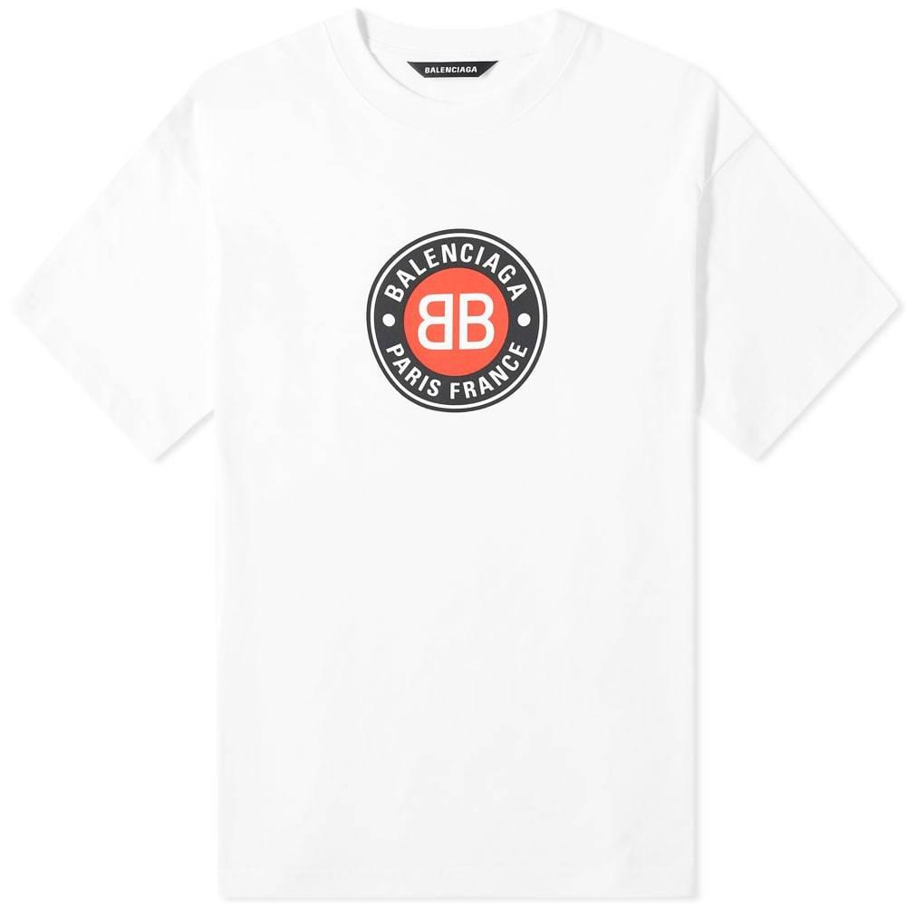 Photo: Balenciaga Badge Logo Tee
