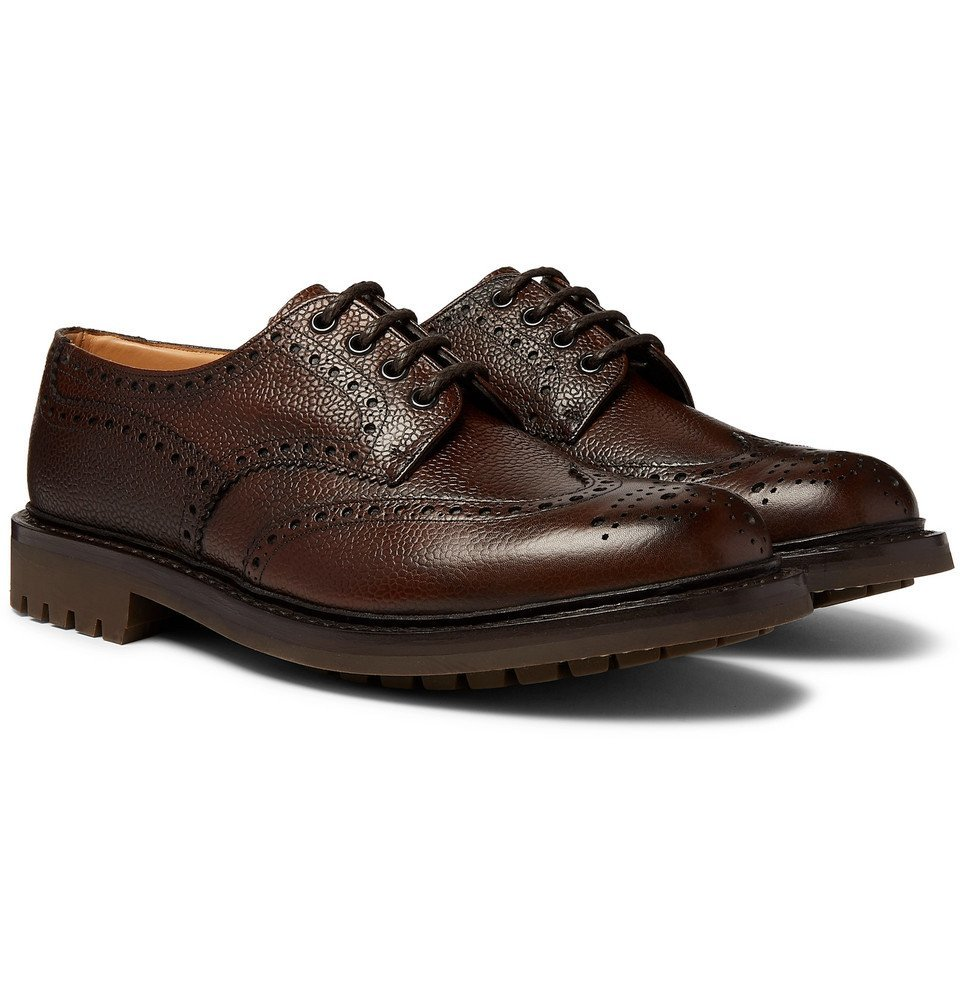 Photo: Church's - McPherson Pebble-Grain Leather Wingtip Brogues - Brown