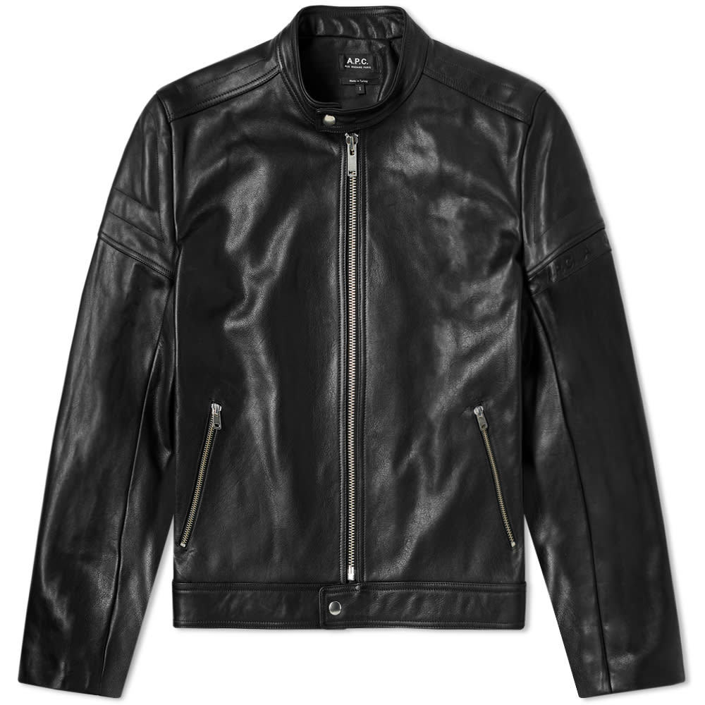 Photo: A.P.C. Coffee Racer Leather Jacket