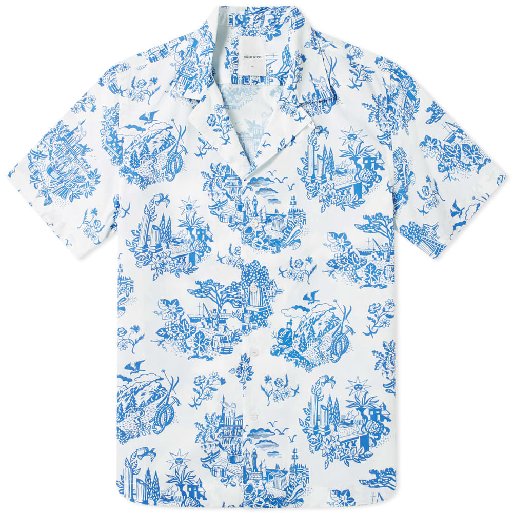 Photo: Wood Wood Brandon Printed Vacation Shirt