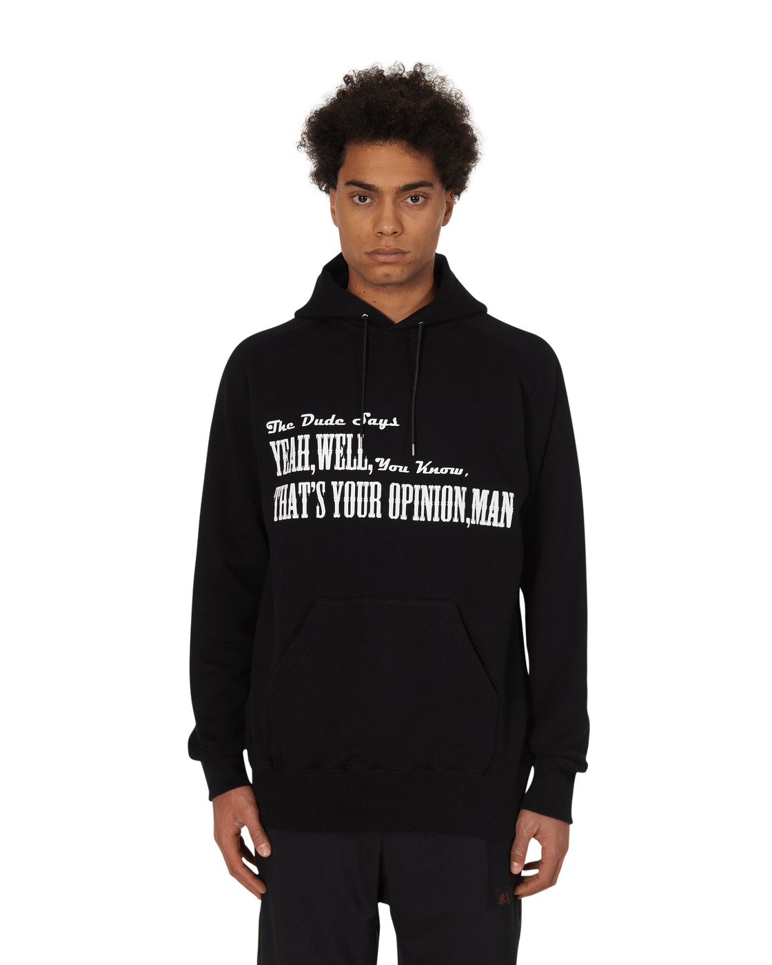 Photo: Sacai The Big Lebowski Hooded Sweatshirt Black