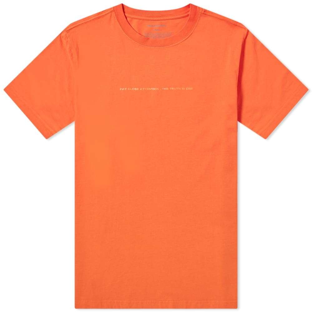 Photo: Maharishi x XL Recordings Tee Blaze Orange