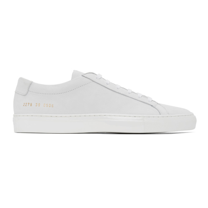 Photo: Common Projects White Nubuck Achilles Low Sneakers