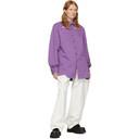 Raf Simons Purple Slim Fit Denim Shirt