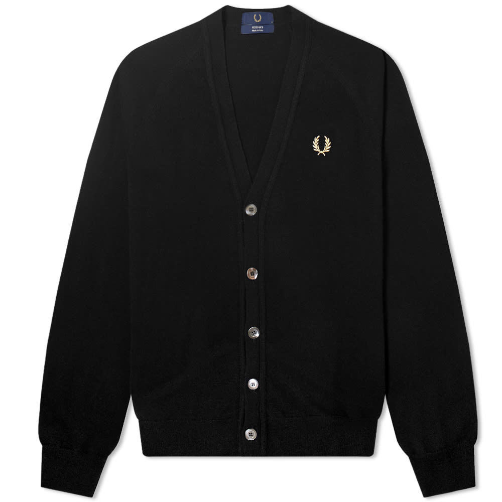 Photo: Fred Perry Reissues Lambswool Cardigan