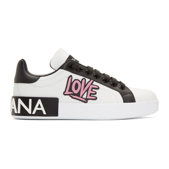 Dolce and Gabbana White Low-Top Love