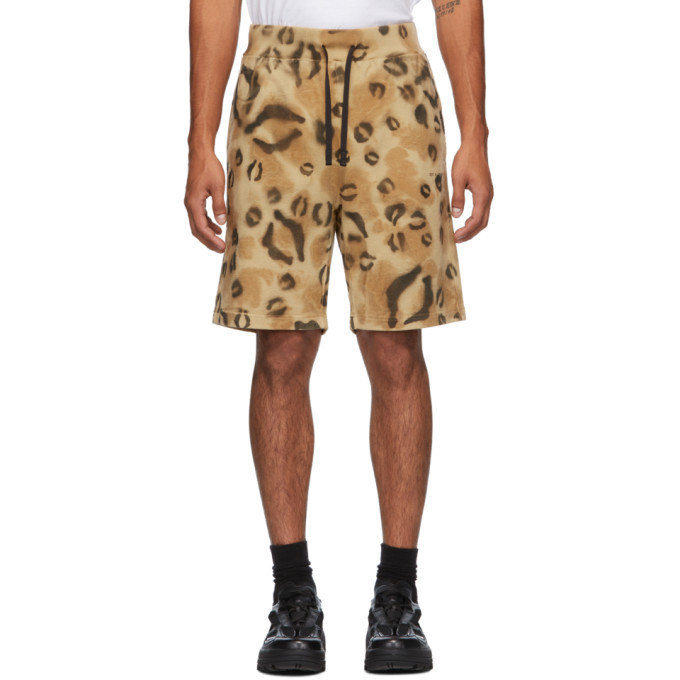 Photo: 1017 ALYX 9SM Tan and Black Terry Leopard Shorts