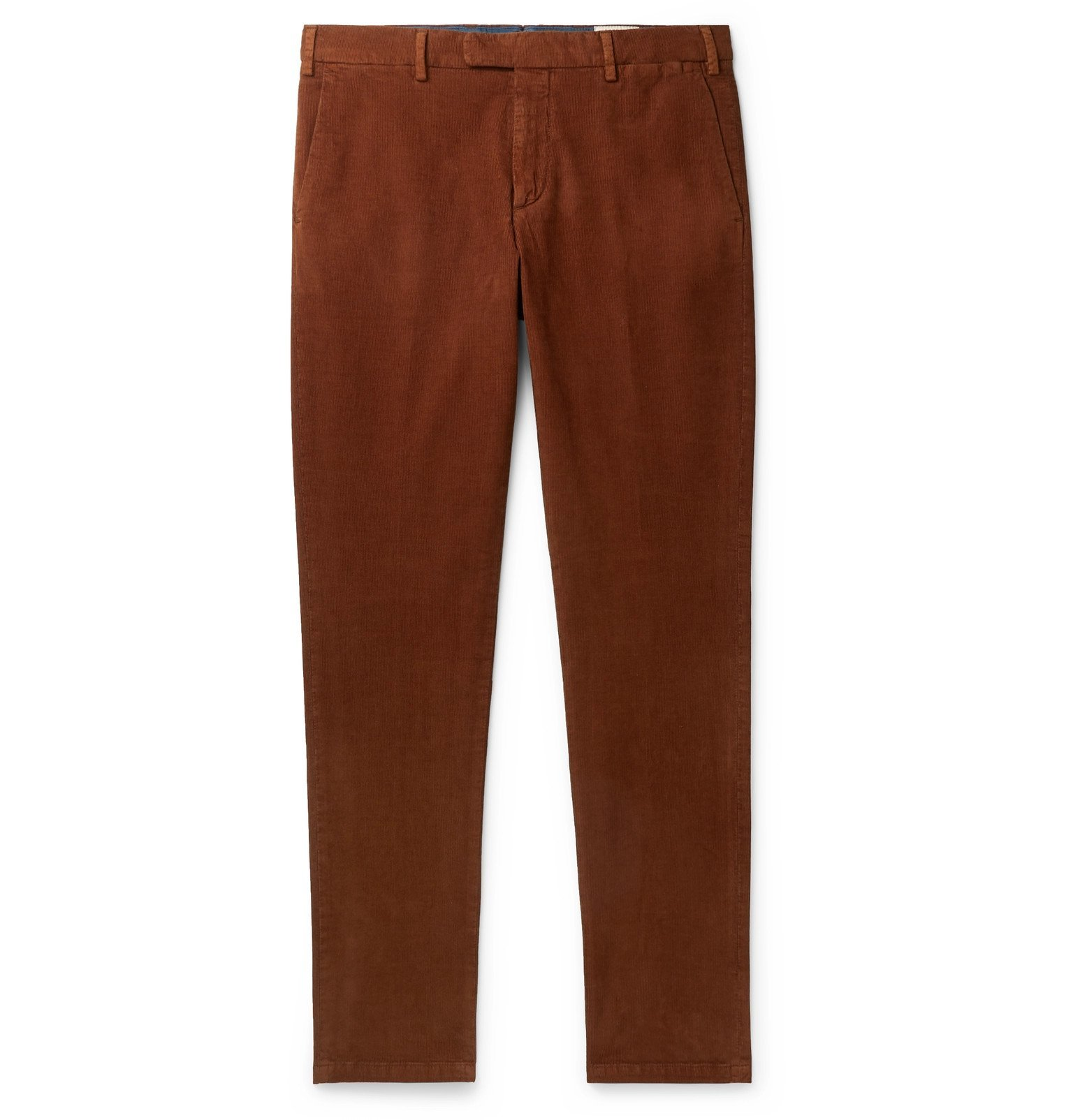 Photo: Boglioli - Slim-Fit Cotton-Blend Corduroy Chinos - Brown