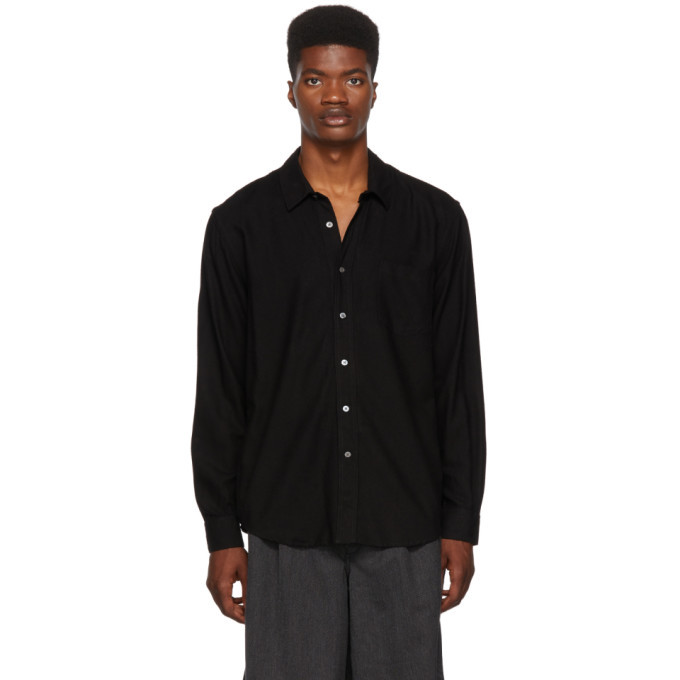 f86632273605aa Our Legacy Black Silk Classic Shirt Our Legacy