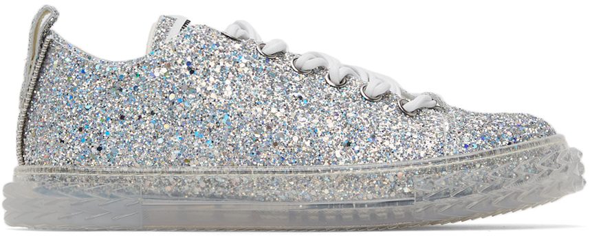 Photo: Giuseppe Zanotti Silver Glitter May London Sneaker
