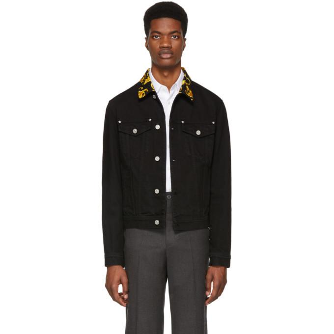 Photo: Versace Black Denim Baroque Jacket