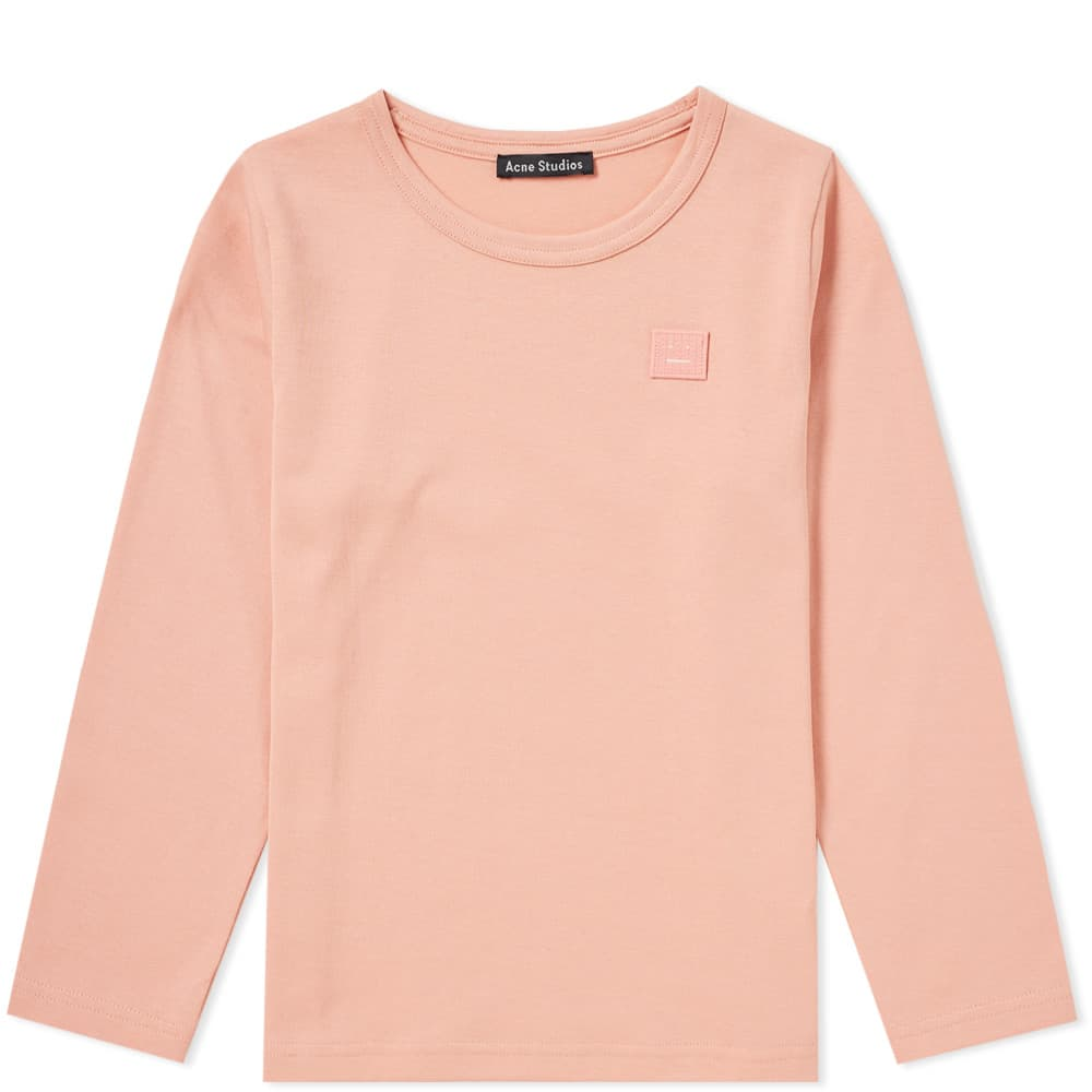Photo: Acne Studios Mini Long Sleeve Nash Face Tee Pink