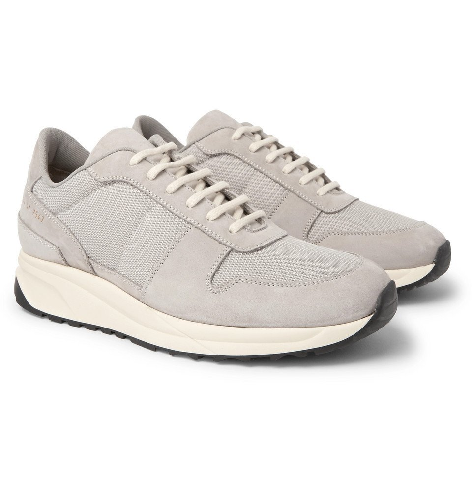Common Projects - Track Vintage Nubuck and Mesh Sneakers - Men - Gray