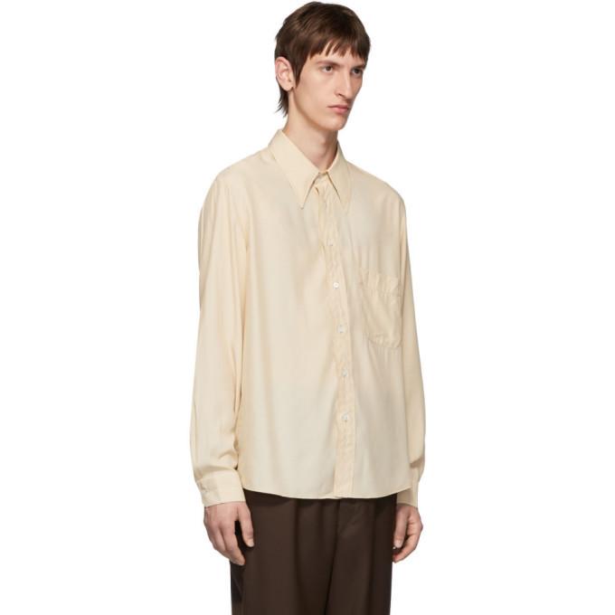 Lemaire Beige Satin Shirt