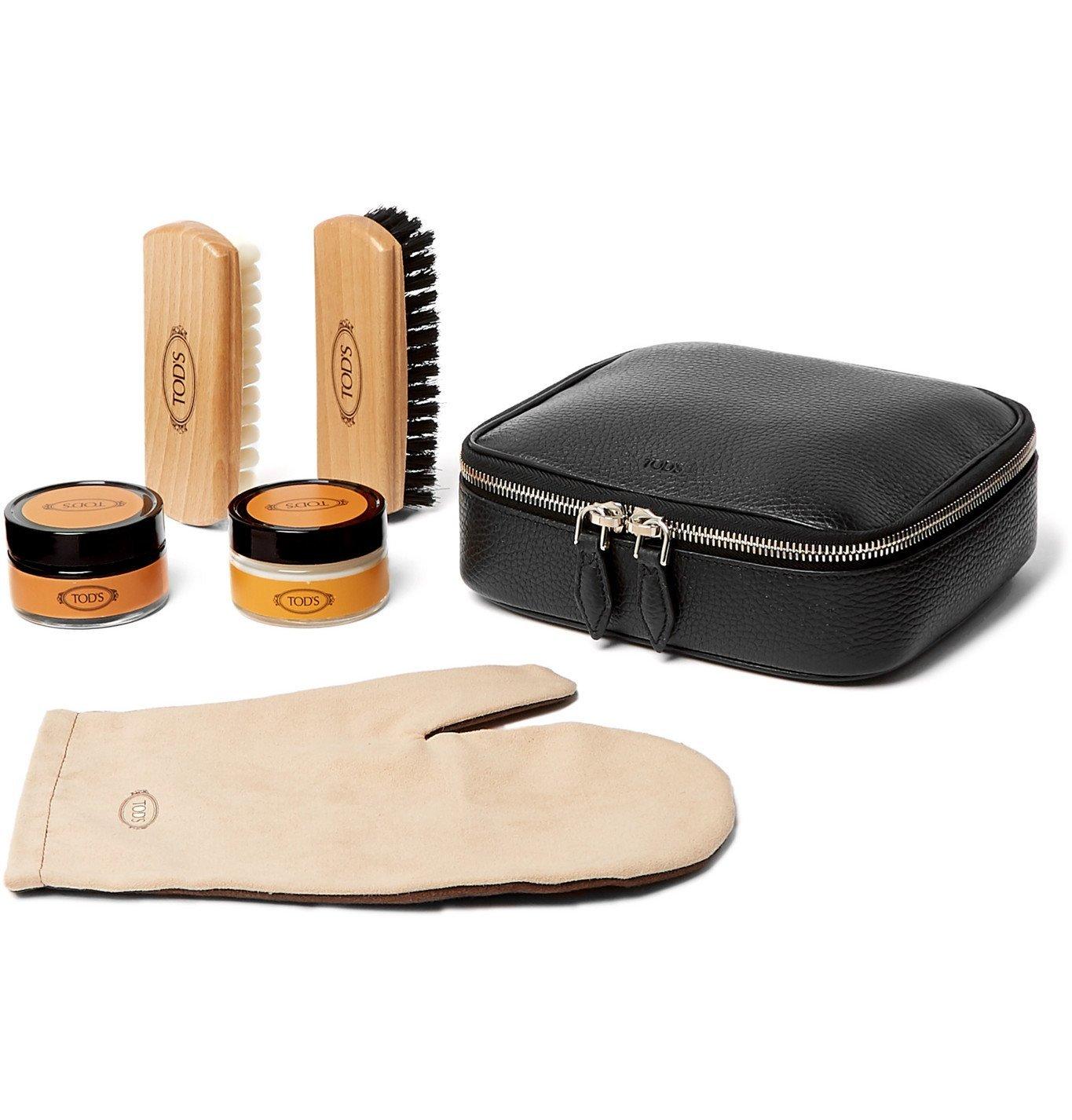 Tod's - Full-Grain Leather Shoe Care Kit - Black