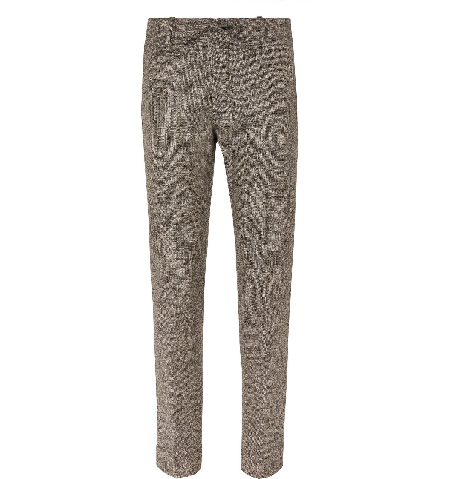 Photo: MAN 1924 - Beige Tomi Slim-Fit Tapered Mélange Wool Suit Trousers - Neutrals