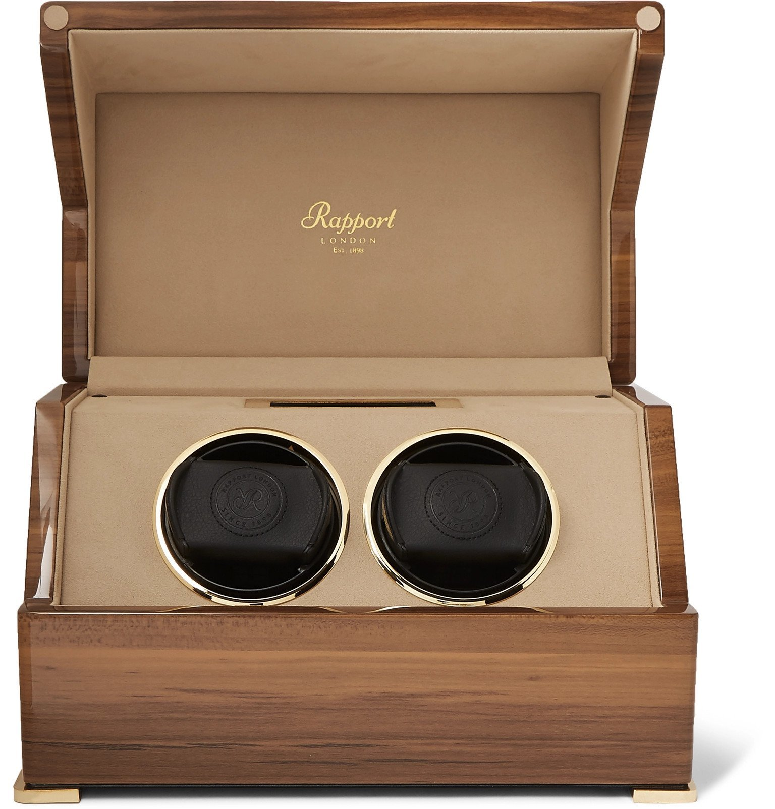 Photo: Rapport London - Perpetua III Lacquered Walnut Watch Winder - Brown