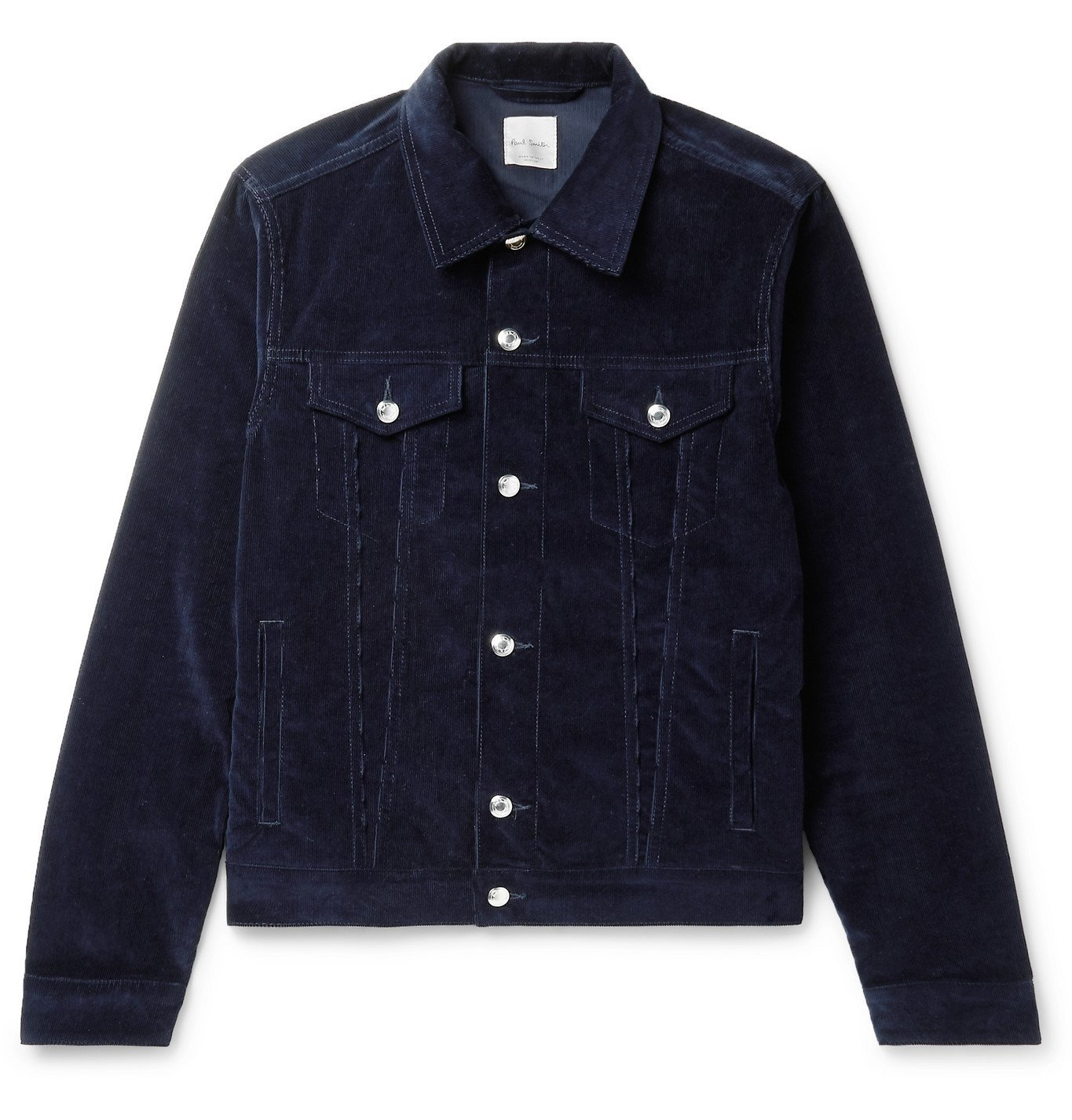 Photo: Paul Smith - Cotton-Blend Corduroy Trucker Jacket - Blue