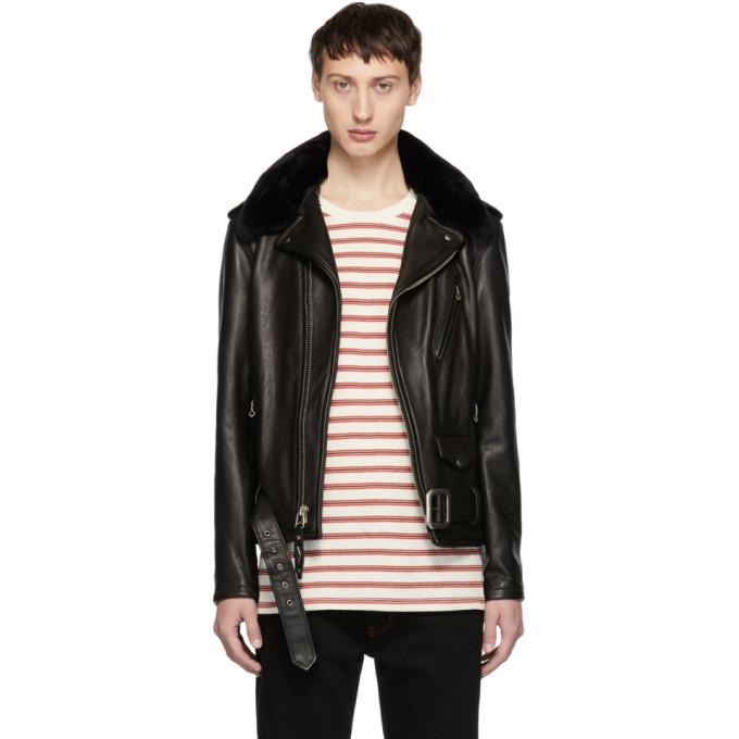 Photo: Schott Black Leather Limited Edition 90th Anniversary Perfecto Jacket