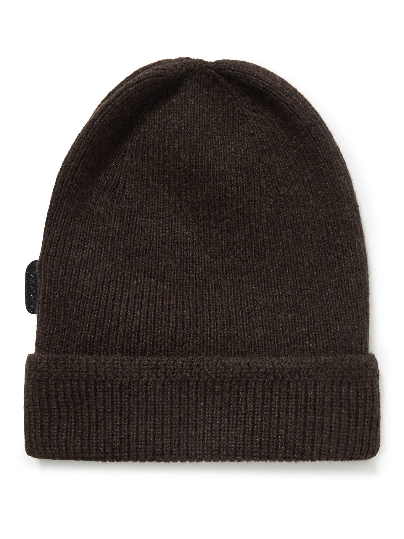 Photo: TOM FORD - Ribbed Cashmere Beanie - Brown