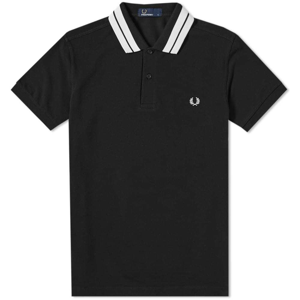 Photo: Fred Perry Bold Tipped Pique Polo Black