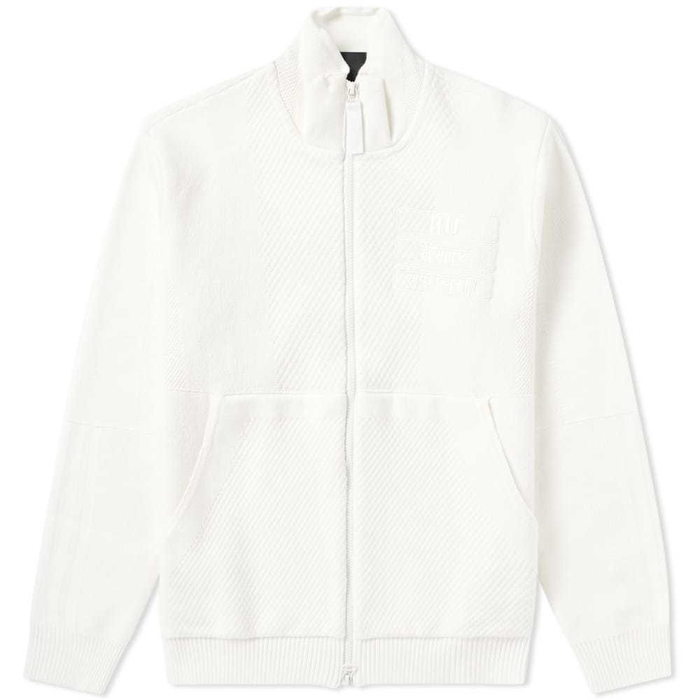 Adidas x Pharrell Williams HU Knit Track Top 'Blank Canvas' White