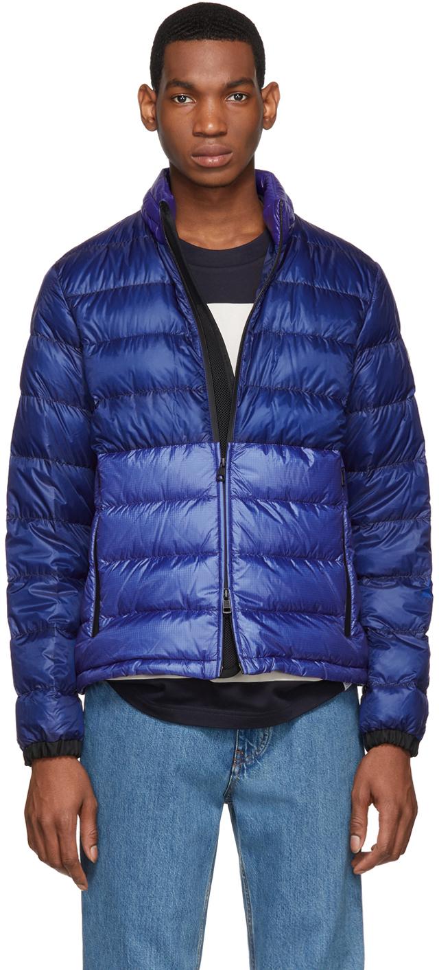 Photo: Moncler SSENSE Exclusive Blue Down Aimar Jacket