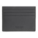 Giorgio Armani Grey Tumbled Leather Card Holder