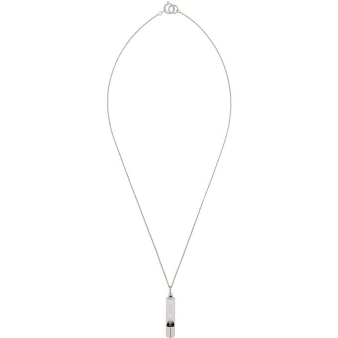 Photo: Hugo Silver E-Whistle Necklace
