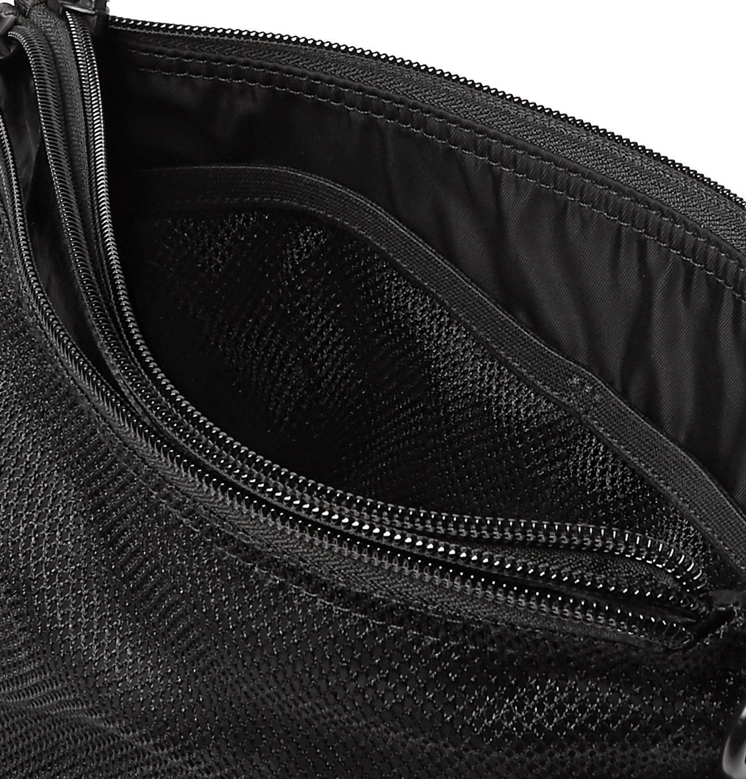 Y-3 - Logo-Print Shell Pouch - Black