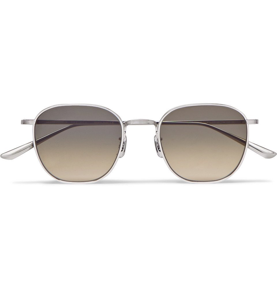 Photo: The Row - Oliver Peoples Board Meeting 2 Silver-Tone Titanium Polarised Sunglasses - Silver