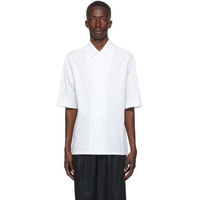 Photo: Bottega Veneta White Cotton Poplin Short Sleeve Shirt