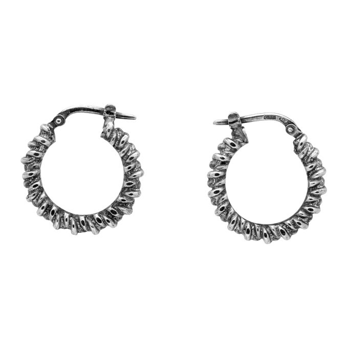 Photo: Ugo Cacciatori Silver Tiny Torcetto Earrings