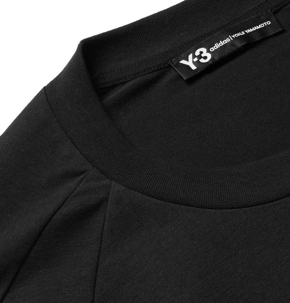 Y-3 - Printed Cotton-Blend Jersey T-Shirt - Men - Black