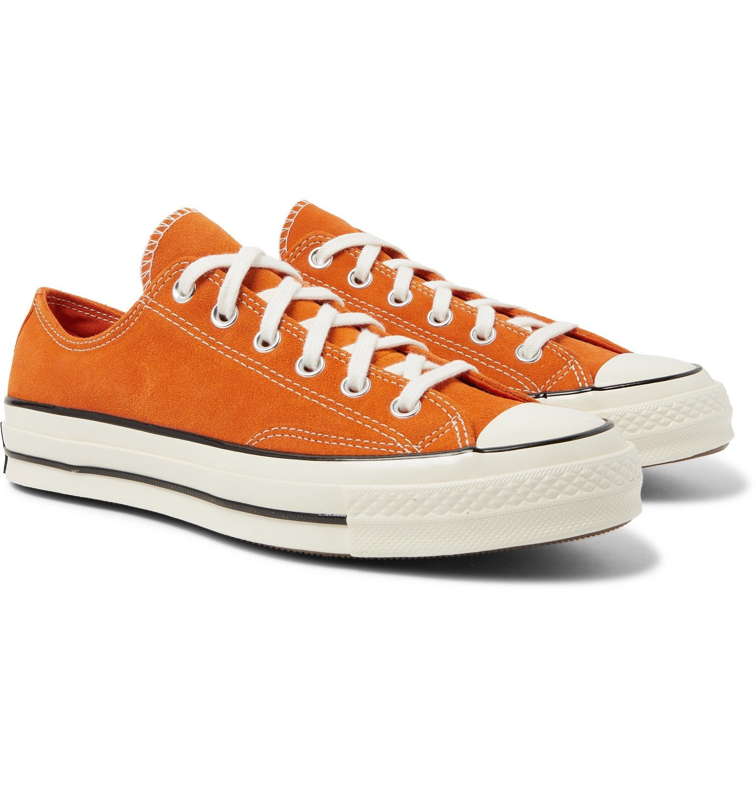 Photo: Converse - Chuck 70 Suede Sneakers - Orange
