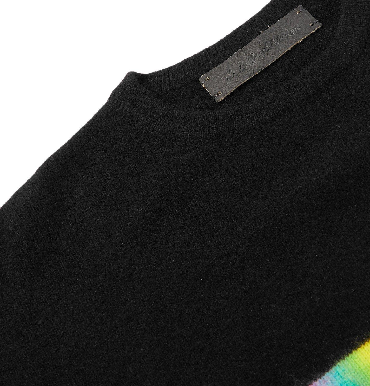 The Elder Statesman - Space Game Rambler Intarsia Cashmere Sweater - Multi