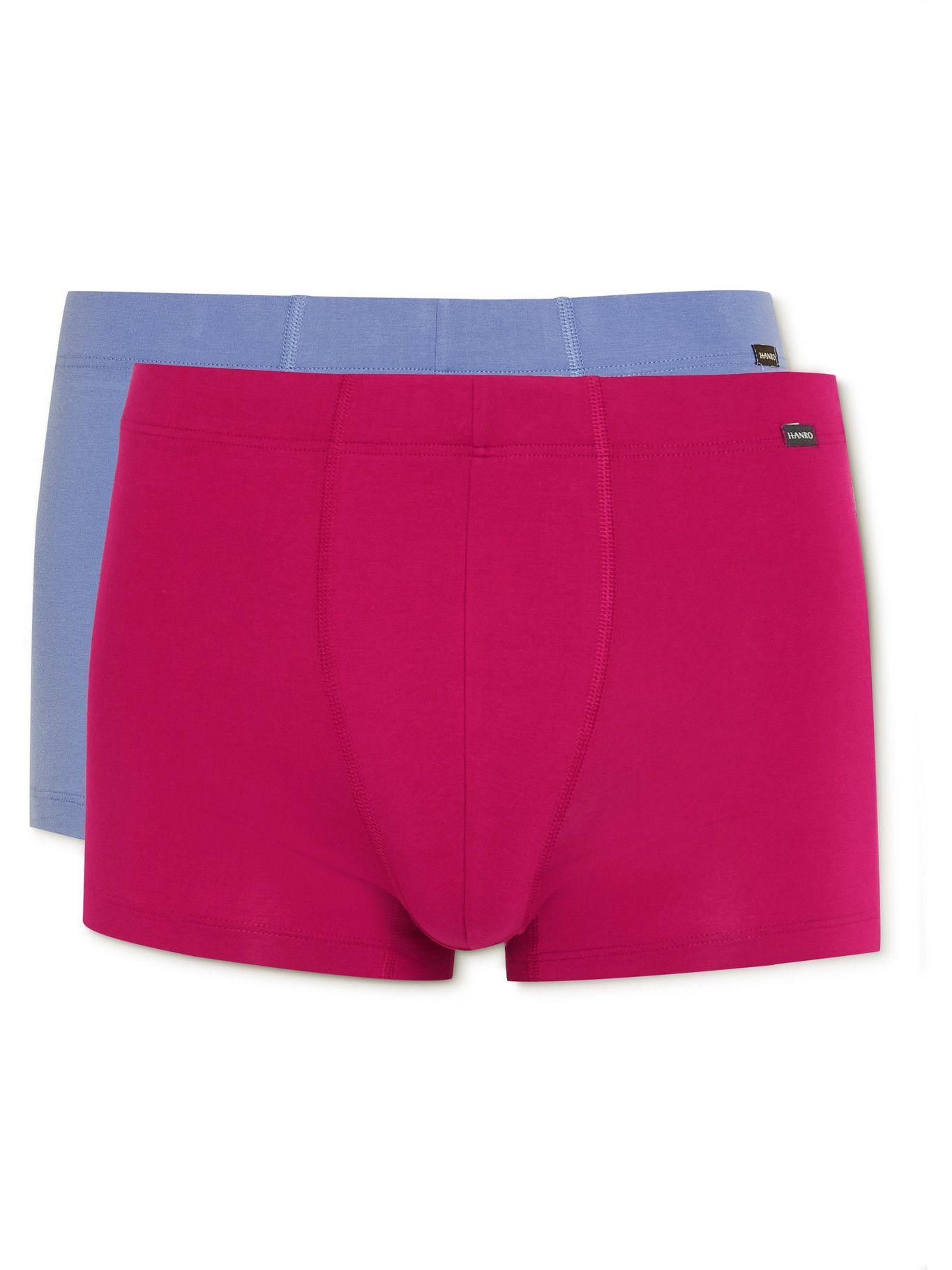 Photo: HANRO - Essentials Two-Pack Stretch-Cotton Boxer Briefs - Multi