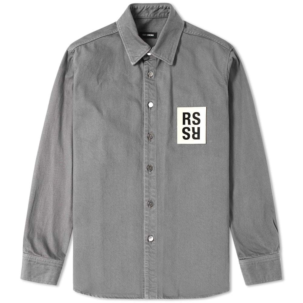 Raf Simons Patch Denim Shirt Grey