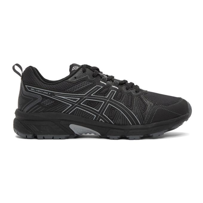 Photo: Asics Black and Grey Gel-Venture 7 Sneakers