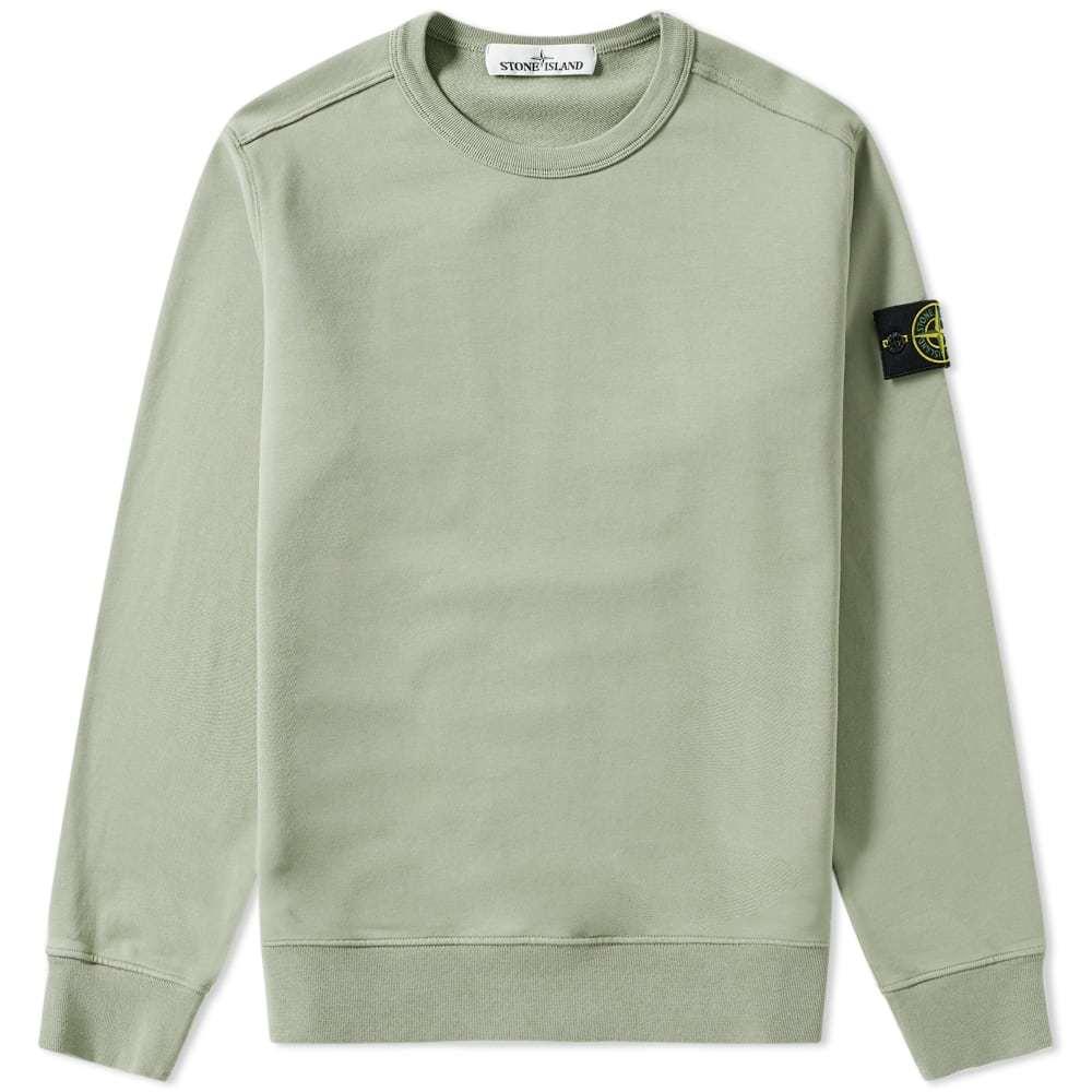 Photo: Stone Island Garment Dyed Crew Sweat Olive