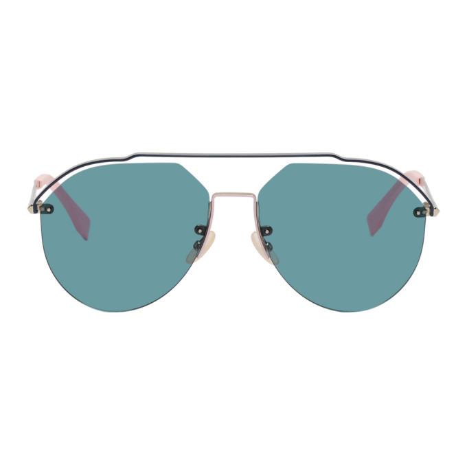 Photo: Fendi Silver and Blue FF M0031/S Sunglasses