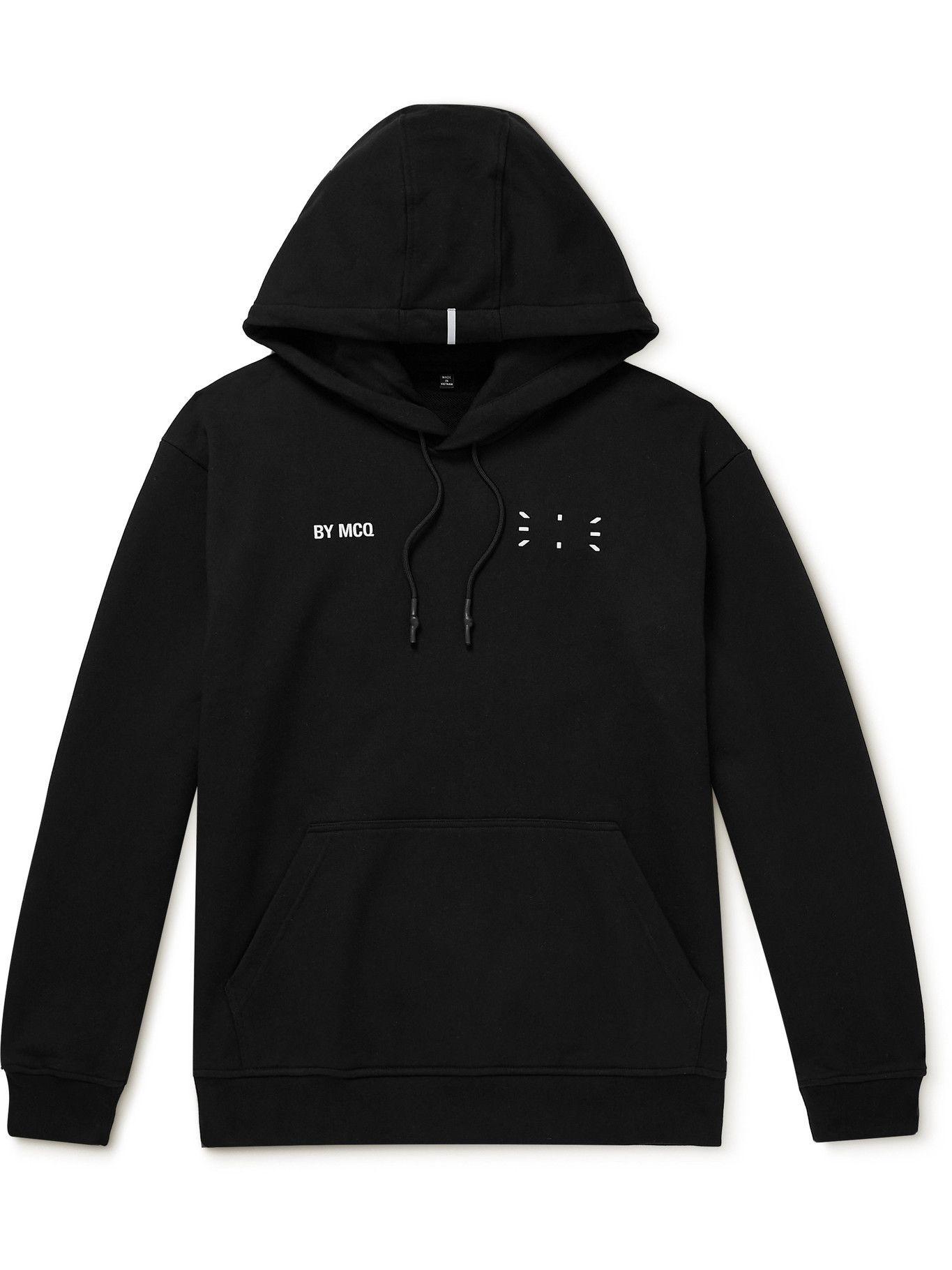 Photo: MCQ - Appliquéd Printed Cotton-Jersey Hoodie - Black