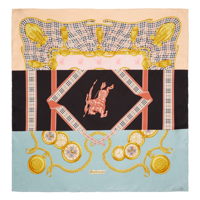 Photo: Burberry Multicolor Silk Scarf