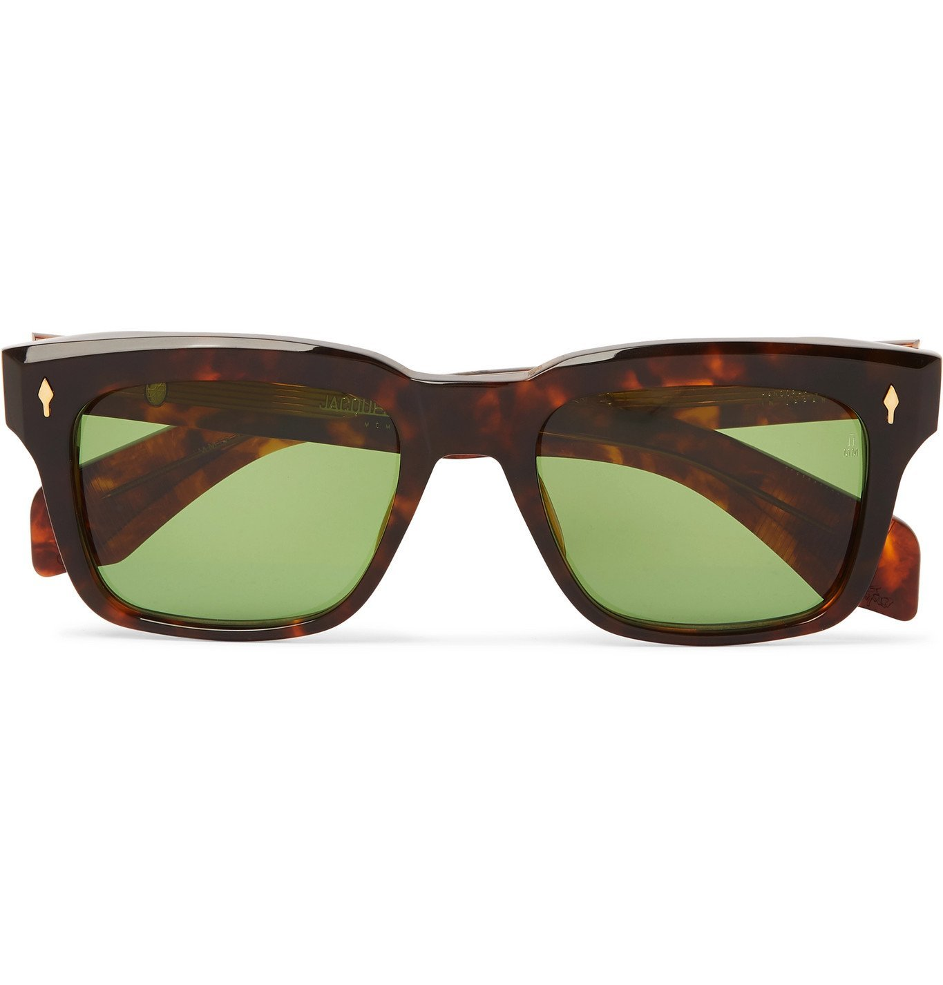 Photo: Jacques Marie Mage - Torino Square-Frame Tortoiseshell Acetate Sunglasses - Brown