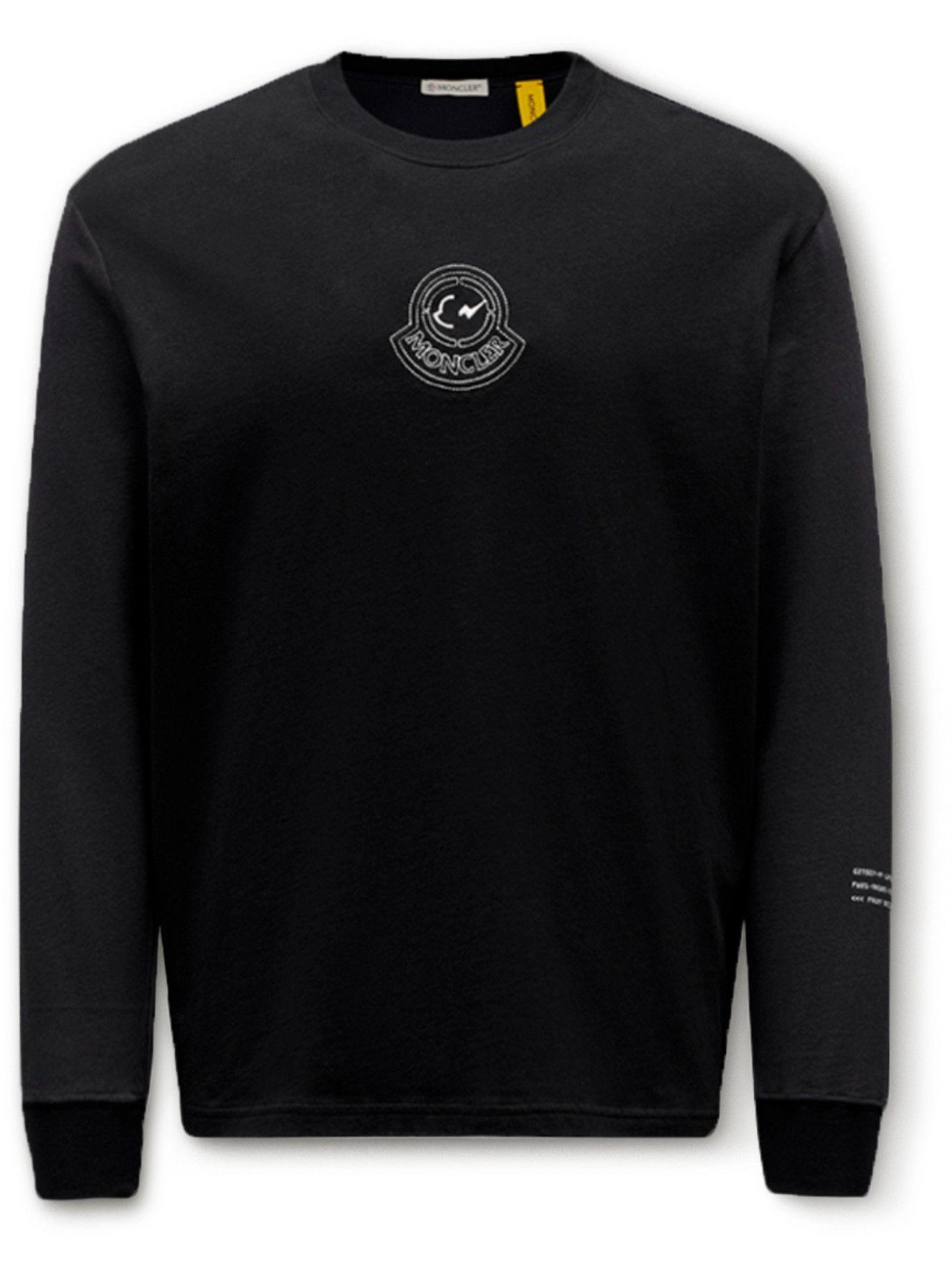 Photo: Moncler Genius - Fragment 7 Printed Cotton-Jersey T-Shirt - Black