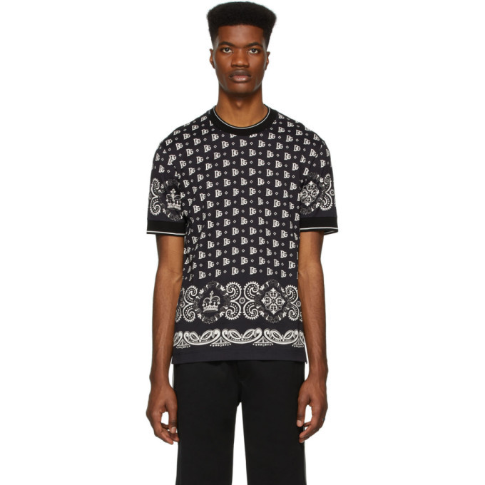 Dolce and Gabbana Black and White Bandana T-Shirt